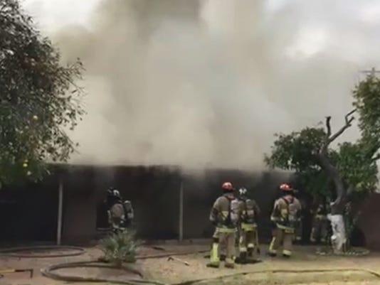 Mesa basement fire