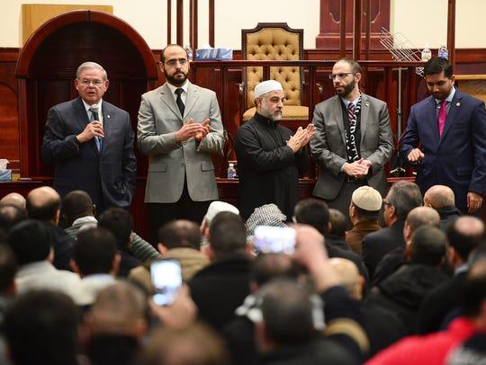 U.S. Sen. Bob Menendez visits the Islamic Center of
