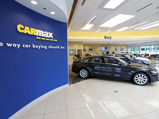 This CarMax showroom is located on Rt. 38 West in Maple