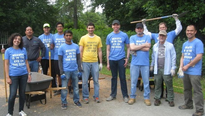 Earlier this summer, agroup of volunteers from the L'Oreal campus in Berkeley Heights helped to restore a section of the Passaic River Park off Springfield Avenue.