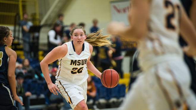 Former Choteau star Alisha Breen of Montana State Billings is back on the court after recovering from a knee injury