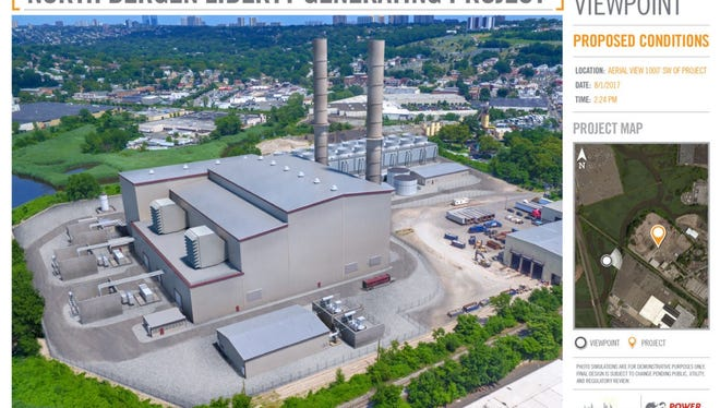 Artist rendering of the proposed North Bergen Liberty Generating station.