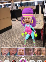 An example of augmented reality on Snapchat.