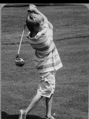 Lance loved to play golf.