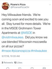 Pizano's broke its silence about the Milwaukee location