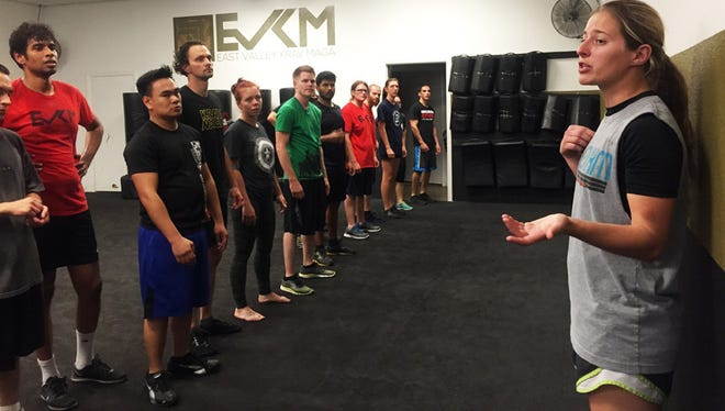 Two years ago, Crystal Nath feared her new neighborhood, but now she teaches self-defense at East Valley Krav Maga.