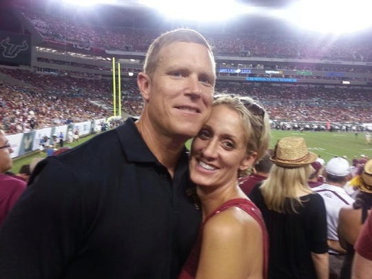 Chad Bates with his wife Jennifer.