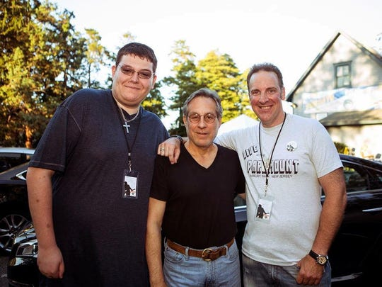 Jesse James Warren, Max Weinberg and Terry Camp at Bar A in Lake Como on Thursday, Aug. 13.