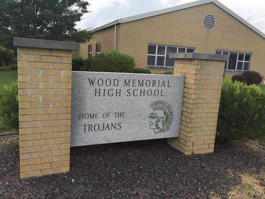 Wood Memorial High School sign
