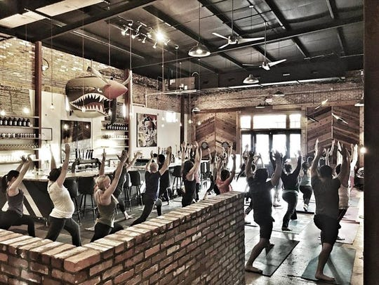 Yoga Brew is 5:30 p.m. Thursday at Flying Heart Brewery.