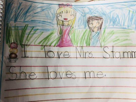 A token of appreciation for Julie Stamm, retiring kindergarten