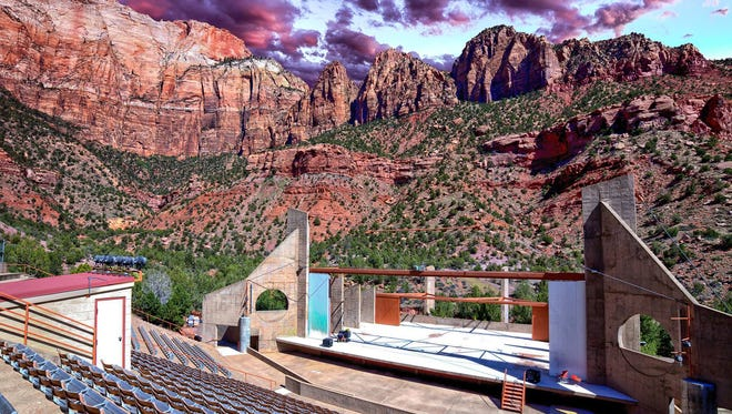 "The O.C. Tanner Amphitheater in Springdale will host ""Sanctuary: The Story of Zion"" for eight nights this summer."