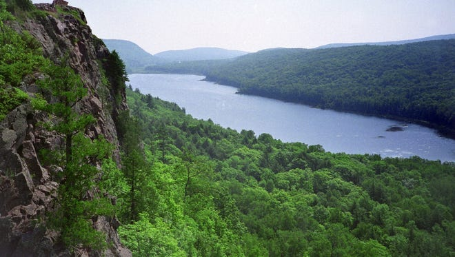 Lake of the Clouds is a highlight of Porcupine Mountains State Park near Ontonagan.