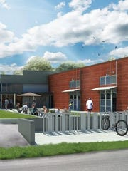 A rendering shows the proposed Coal Factory in Indianapolis' Irvington neighborhood.