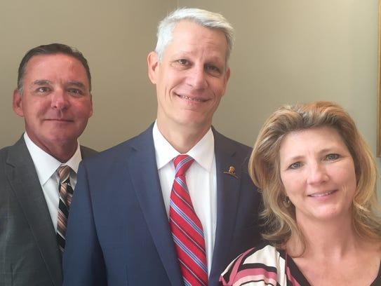 Chris Whittington and Doug and Jennifer Boudreaux were awarded the medical marijuana license for the Shreveport region.