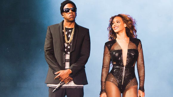 Jay Z and Beyoncé promotional photo for their On the Run Tour