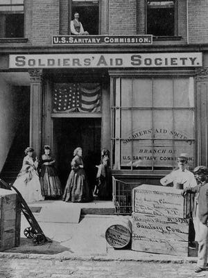 This picture of a Soldier's Aid Society from the American Civil War was akin to what existed in Richmond.