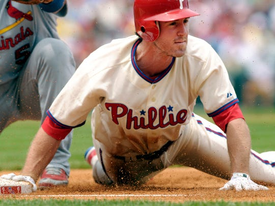 Chase Utley was known for his grit and determination during his 13 seasons with the Phillies. He was honored Friday night in a retirement ceremony.