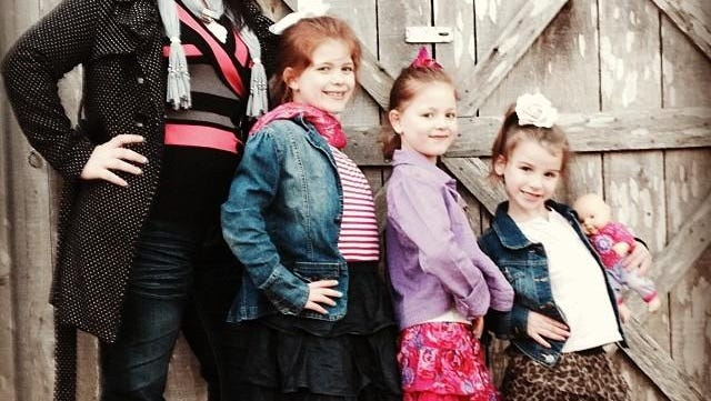 Evelyn Sullivan and her three daughters