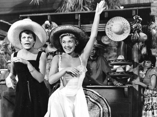 3. Kaye Ballard (L) with Jane Powell in The Girl Most Likely - RKO 1958