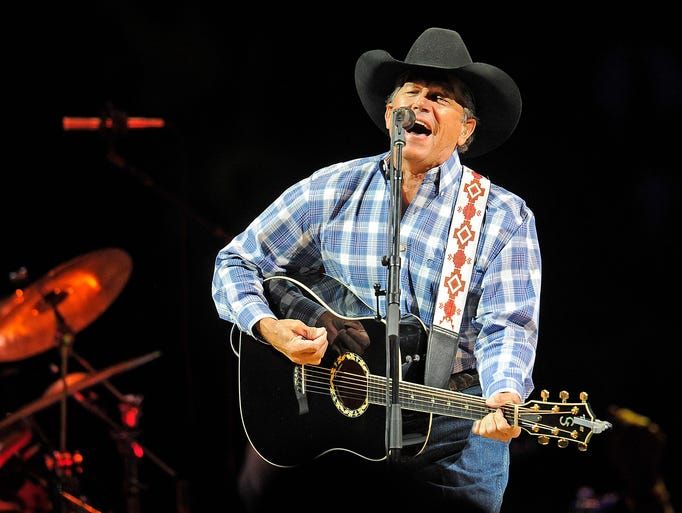 """George Strait performs his """"The Cowboy Rides Away"""" tour during his stop at Bridgestone on Friday night. Friday March 21, 2014, in Nashville, TN."""