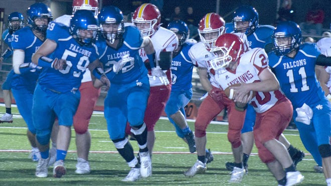 The West Franklin defense closed down every hole against the Jayhawk-Linn offense Friday in the 48-13 homecoming victory.
