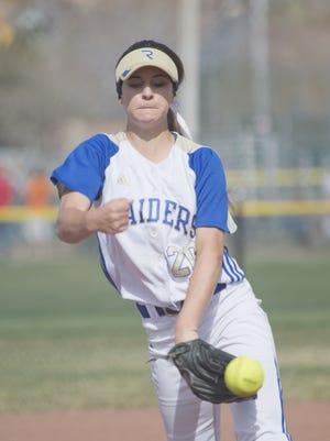 Reed's Julia Jensen had a no-hitter Friday