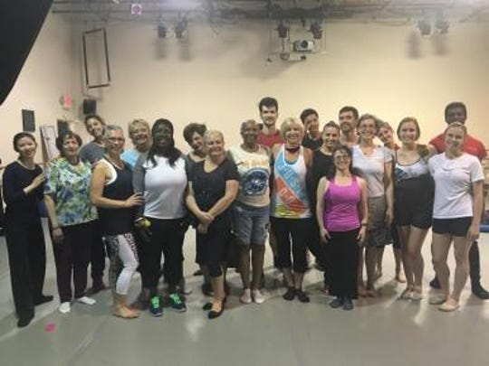 """Sharing the stage, breast cancer survivors and dancersjoinRoxey Ballet as it presents theworld premiere of""""We vs. C: Personal Stories of Triumph."""" Celebratingthe lives of breast cancer survivors,the original performancewill have two showingson June 4 at Grounds for Sculpture in Hamilton."""