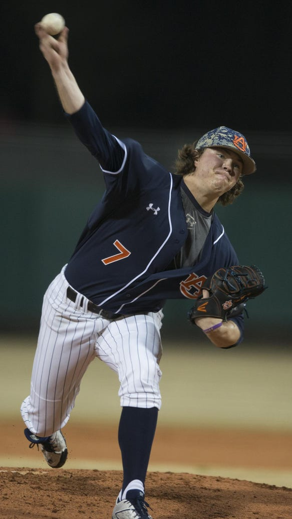 Auburn pitcher Keegan Thompson was drafted in the 33rd
