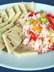 Shrimp kelaguen, perfect for Lent and Chamorro month.