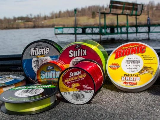 A rainbow of different line colors help anglers dial