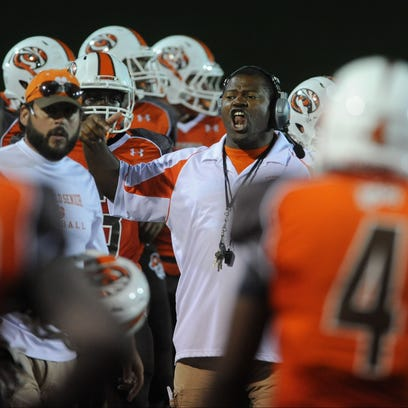Mansfield Senior coach Chioke Bradley is well-armed