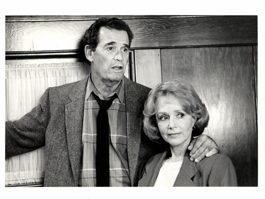 """James Garner and Piper Laurie - """"the Promise,"""" CBS"""