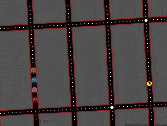 Play 'Ms. Pac-Man' on Google Maps