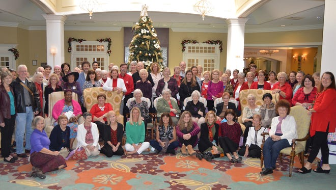 Eighty women's cancer survivors and loved ones gathered for the Friends After Diagnosis holiday luncheon.