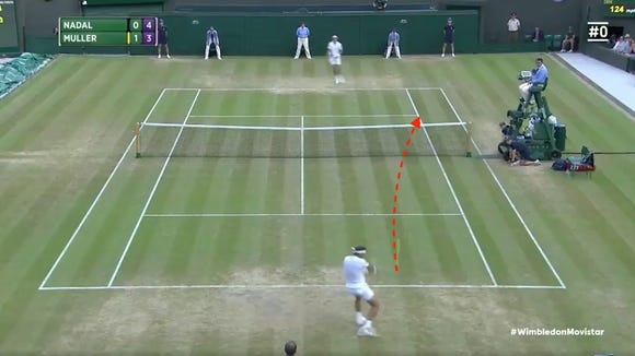 Hi-tech footage shows Rafa Nadal winning epic rally by literal blades of grass