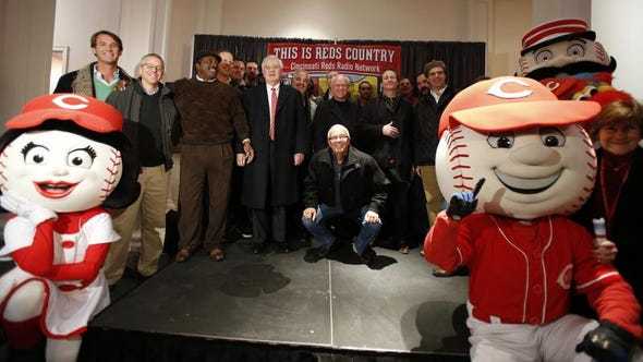 Radio personalities like Marty Brennaman will be front and center on the Reds Caravan tour, which starts Thursday.
