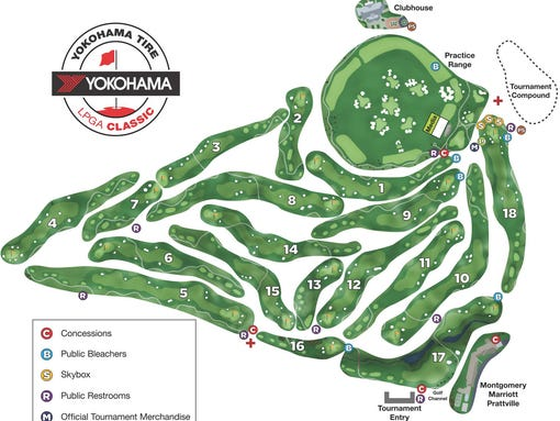 Map: Getting around the Senator golf course