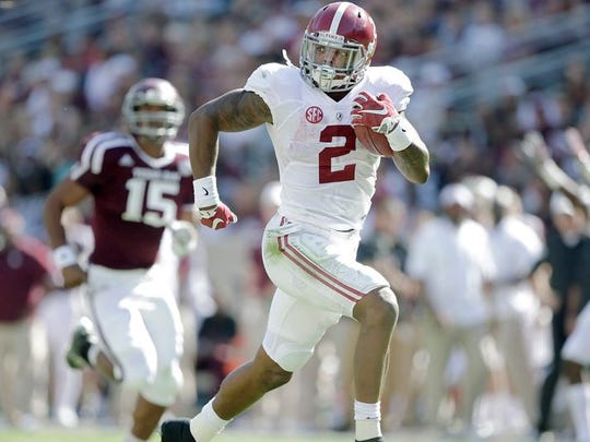 Derrick Henry ran for 2,219 yards and 28 touchdowns on an astounding 395 carries in winning the 2015 Heisman Trophy.