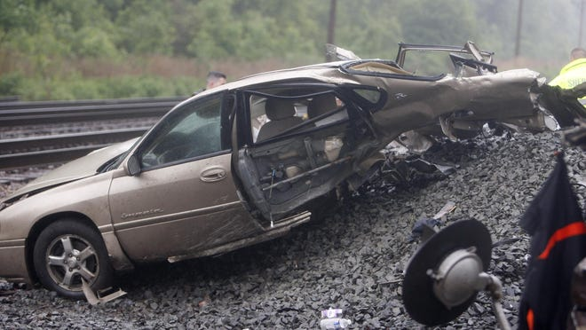 An Amtrak train smashed into a car on June 1, 2015 on King Road in Chili. The driver of the car died.