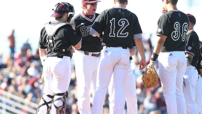 Mississippi State coach John Cohen (second to left) knew it would all click for his team eventually.