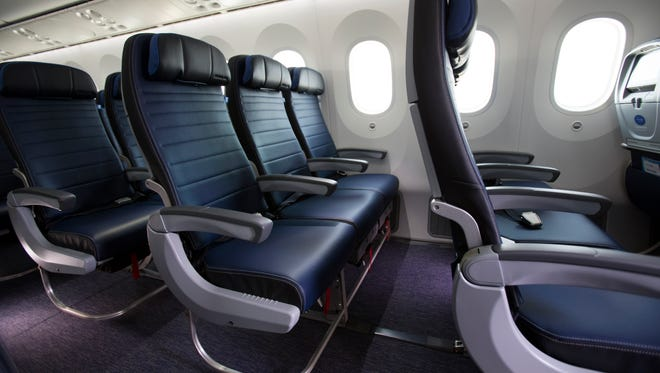 Economy Plus seats on a United Airlines 787-9.