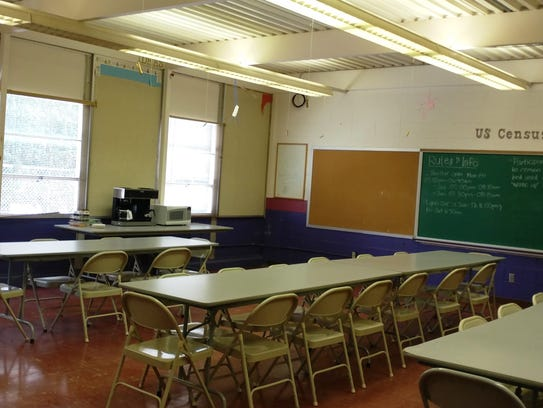 One of the classrooms set-up and ready for the men