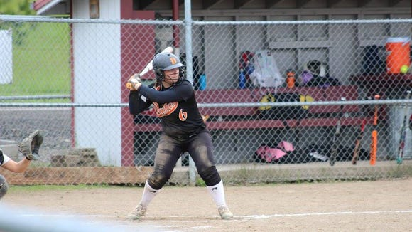 Dallas player Ashlee Lichtenberger is at the plate for the Dragons.