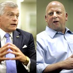 State Sen. Jim Tracy, left, trails U.S. Rep. Scott DesJarlais by 38 votes in the 4th Congressional District Republican primary. Tracy's campaign said he'll announce his decision about conceding or contesting the result on Monday.