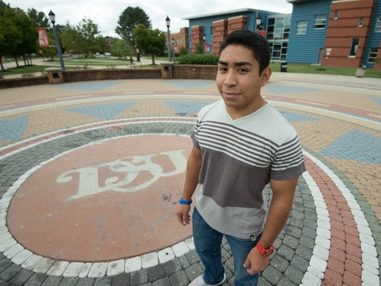 Fernando Morales, 19, is a student at Delaware State