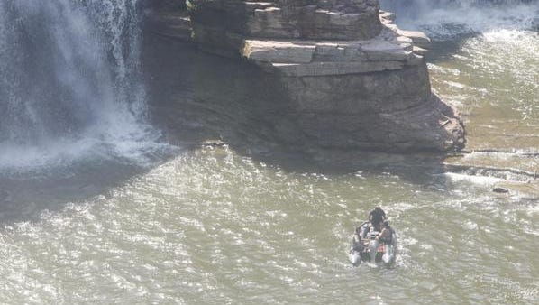 Search underway for man who fell in river.