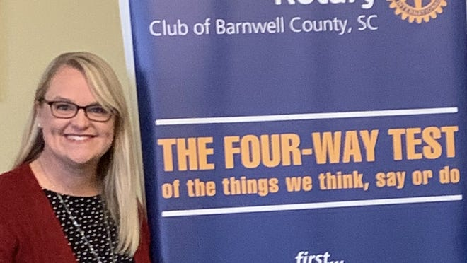 Crissie Stapleton was recently sworn in as President of the Rotary Club of Barnwell County for the 2020-21 year. Stapleton is the Superintendent of Barnwell District 45 Schools.