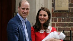 Prince William and Duchess Kate of Cambridge with their