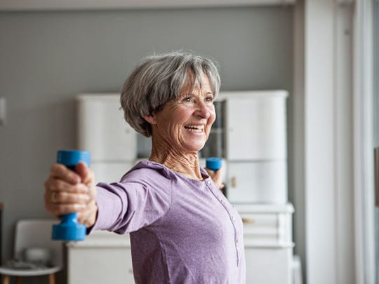 Women experience additional challenges in their 40s and 50s thanks to perimenopause/menopause, and exercise can help manage the symptoms of hot flashes, weight gain and additional abdominal fat, as well as potential bone loss.